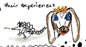 and I doodle dogs and dinosaur hedgehogs