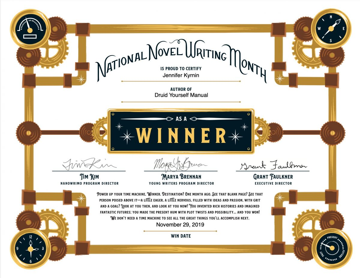 Winner NaNoWriMo 2019